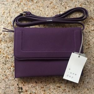 Crossbody purple purse